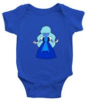 Infant Baby Rib Bodysuit Jumpsuit Steven Universe Sapphire Fusion Crystal Gems