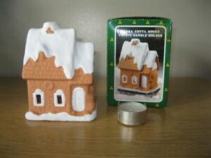 World Bazaar Terra Cotta House Candle Holder