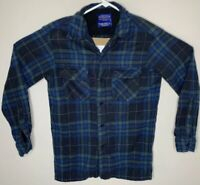 Pendleton Mens Board Shirt JAC Plaid USA Virgin Wool Long Sleeve Shirt Sz Small