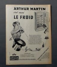 PUB PUBLICITE ANCIENNE ADVERT CLIPPING 240917/ REFRIGERATEUR ARTHUR MARTIN LE FR
