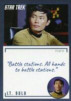 Star Trek TOS Archives & Inscriptions card #6 LT Sulu Variation 11 out of 11