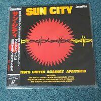 SUN CITY 1985 JAPAN PRINT LASERDISC OBI LOU REED RINGO STARR BRUCE SPRINGSTEEN