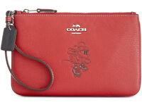 Coach X Disney Minnie Mouse Motif Small Wristlet ~NWT~ RED Gift BOX 37540B