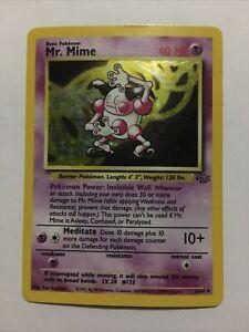 Mr. Mime 6/64 Holo Pokemon Card - Jungle Set - Rare - 1999 - WOTC