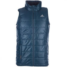 Mens New Adidas Padded Gilet Jacket Bodywarmer Coat Tank Vest - Midnight Blue