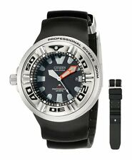 Citizen BJ8050-08E Men's Promaster Professional Diver PU Band Black Dial Watch