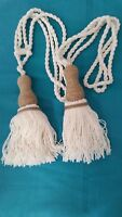 Tie Back Tassel Natural Cotton & String 1 (Pair)