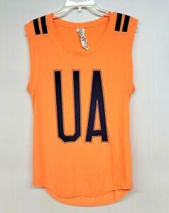 Under Armour Heat Gear Womens Tank Top Size Large Orange Activewear