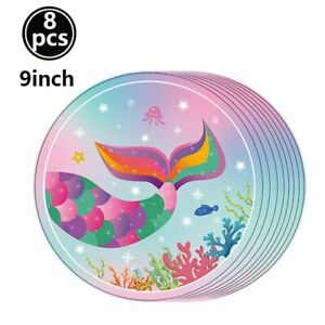 Mermaid Party Decoration Tableware Aluminum Foil balloon Birthday Party Supplies