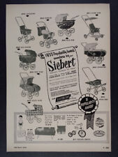 1955 Siebert Baby Carriages & Strollers vintage trade print Ad