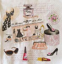 20 paper napkins decoupage collection Paris Shopping la Boutique de la mode