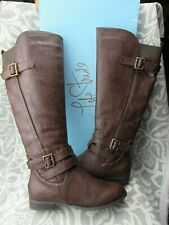 New in Box LifeStride Women's Francesca Black Tall Riding Boots Size 8 W Wide