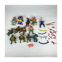 1980's 1990's TMNT Teenage Mutant Ninja Turtles Playmates Lot 13 Figs Weapons