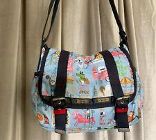LeSportsac Artist In Residence Messenger Bag Kate Sutton Carnival Fair Design