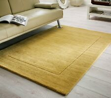 SALE Tuscany Siena Ochre Yellow Supersoft Wool Rug in various sizes and runner