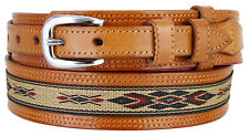 Men's Genuine Leather Durable with Fine Cloth Western Ranger Cowboy Belt