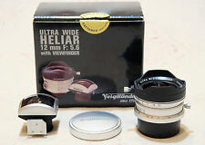 Voigtlander Ultra Wide Heliar 12mm 5.6 12 mm con Mirino per Leica Vite M39 LTM