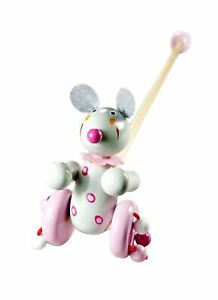 Mousehouse Traditional Wooden Push Along Toy Mouse for Toddler Boy or Girl