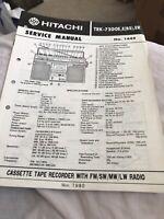 hitachi TRK -7200 E ,E(BS),ER service manual