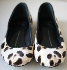 Giuseppe Zanotti Estampado de Leopardo haircalf Ballet Zapatos sin Taco Sin 38 Reino Unido 5