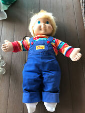 Vintage My Buddy Doll Blonde Hair Blue Eyes Original 1985 Blue Overalls