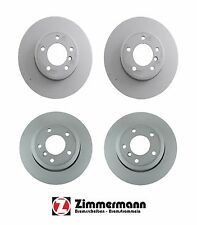 BMW E60 E61 525xi 528i 535i 530xi 06-10 Front & Rear Disc Brake Rotors Zimmerman