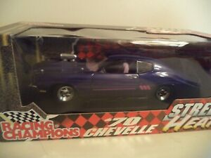RACING CHAMPIONS CHEVROLET  CHEVELLE STREET HEAT 1970     1/18TH   IN  BOX