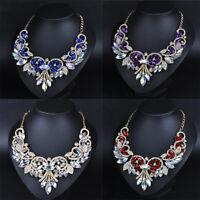Fashion Jewelry Charm Chain Crystal Choker Chunky Statement Bib Pendant Necklace