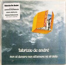 """FABRIZIO DE ANDRE'  """"NON AL DENARO NON ALL'AMORE .."""" cd vinyl replica nuovo"""
