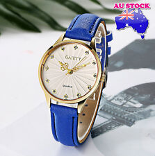 Wholesale Blue Leather Crystal White Dial Quartz Watch Women Lady Wrist Watch