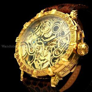 Vintage Mens Wristwatch Skeleton Men's Wrist Watch IWC Schaffhausen Movement
