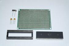 ATMEGA32L-8PU MCU Kit Matrix PCB, 8MHZ Crystal, 22pF Capacitors, IC Socket