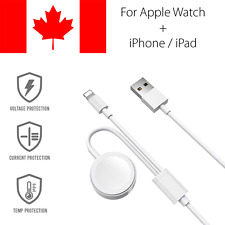 2 in 1 For Apple Watch Charger and iPhone Cable Magnetic Charging Fast