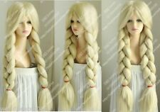 The Country Girl Shepherdess wig! light blonde Big Bold braid Cosplay party wig