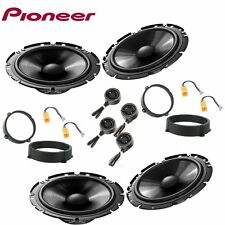 Car stereo front and rear 8 speakers kit for PIONEER Alfa Romeo 147 2000 - 2014