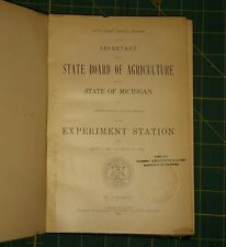 1912 51st ANNUAL REPORT MICHIGAN STATE BOARD OF AGRICULTURE +Experiment Station.