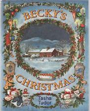 Rare 1991 AUTOGRAPHED Jenny Wren Press Tasha Tudor FINE HC DJ Becky's Christmas