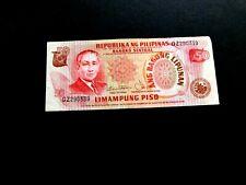 Philippines 50 Peso Bank note, Used/Good, 1949, No tears, Sergio Osmena