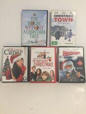 BULK LOT OF 5 * CHRISTMAS MOVIES * DVD  ( ASSORTED REGIONS )