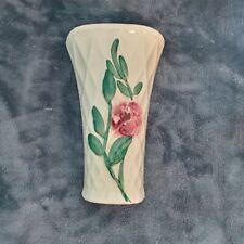 Vintage Floral Hanging Mounted Heavy Glass Vase