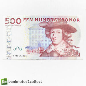 SWEDEN: 1 x 500 Swedish Krona Bnaknote.