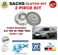 FOR FORD MONDEO 2.0 16V Di TDDi TDCi 2000-> SACHS 2 PIECE NEW CLUTCH KIT BOXED