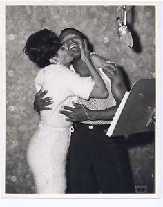 Sugar Ray Robinson 1950s Recording Studio Candid Original 8x10 Evelyn Nelson