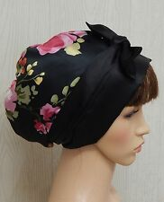 Curly afro hair satin bonnet sleeping head wear silky head scarf head wrap cap