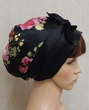 Curly afro hair satin bonnet sleeping head wear silky head scarf head wrap cap