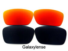 Galaxy Replacement Lenses For Oakley Fuel Cell  Black&Red Color Polarized 2Pair