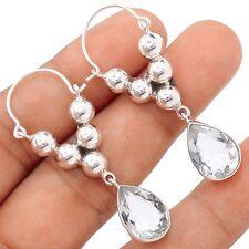 White Topaz 925 Sterling Silver Earrings Jewelry SE105623