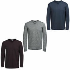 Long Sleeve Henley Solid T-Shirts for Men