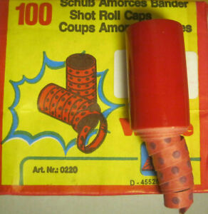 2000 Schuß Wicke Zündplättchen 20 x 100 Schuß Streifenmunition Amorces Bänder