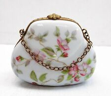 "Fontanille & Marraud (Fm) French Limoges Porcelain ""Purse-Formed"" Trinket Box"